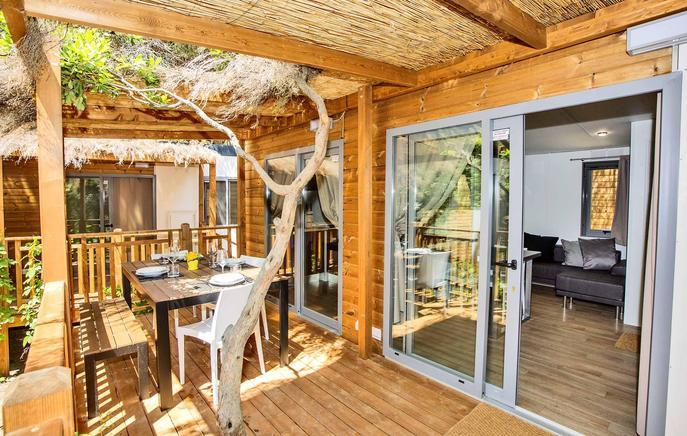 ferienpark toskana mobilheim 6 personen castiglione della. Black Bedroom Furniture Sets. Home Design Ideas